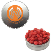 Snap-Top Mint Tin with Cinnamon Red Hots