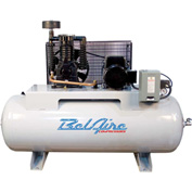 Belaire 8090250032 ELITE Two Stage Horizontal Air Compressor, 7.5HP, 80 Gallon