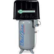 Belaire 8090250245 Quiet Performance Two Stage Vertical Air Compressor, 7.5HP, 80 Gallon