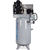 Belaire 8090253702 ELITE Iron Series Two Stage Vertical Air Compressor, 7.5HP, 80 Gallon