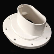 Cover Guard Adjustable Wall Flange CGWLFL - Plastic, White - Pkg Qty 6