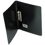 """Presstex Grip Punchless Binder With Spring-Action Clamp, 5/8"""" Capacity, Black"""