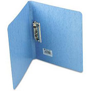 "Presstex Grip Punchless Binder W/Spring-Action Clamp, 5/8"" Capacity, Light Blue"