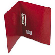 """Presstex Grip Punchless Binder W/Spring-Action Clamp, 5/8"""" Cap., Executive Red"""