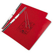 Pressboard Hanging Data Binder For 14-7/8 X 11 Unburst Sheets, Executive Red