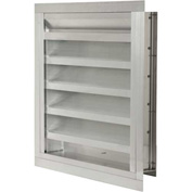 """Combination Louver / Damper with Flange 36""""W x 24""""H - ACL-F-36x24"""