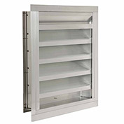 """Combination Louver / Damper with Flange 60""""W x 24""""H - ACL-F-60x24"""