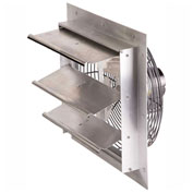 "Air-Flo 18"" Shutter Mount Exhaust Fan SMF 18B - 115V 1/4 HP 2590 CFM, Aluminum"