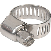 "Apache 48016998 1/4"" - 5/8"" 300 Stainless Steel Micro Worm Gear Clamp w/ 5/16"" Wide Band"