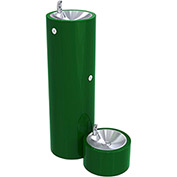 Acorn A7C1500S-PF Pedestal Mounted Outdoor Drinking Fountain W/ Pet Fountain - Round