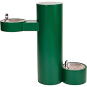 Acorn ABC1500S-PF Barrier Free Pedestal Mounted Outdoor Drinking Fountain W/ Pet Fountain - Round
