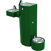 Acorn ABG2500S-PF-FRU3 Barrier Free Freeze Resistant Bi-Level Pedestal Fountains W/Pet Fountain - SQ