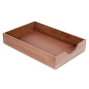 Wood Desk Tray Legal Size Walnut