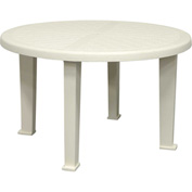 "Brentwood 48"" Round Table, White"