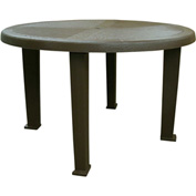 "Brentwood 48"" Round Table, Earth Brown"