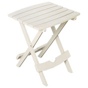 Adams® Quik Fold Side Table, White