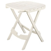 Adams® Quik Fold Cafe Table, White