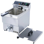 Adcraft DF-12L Countertop Fryer w Faucet, Electric, Single Tank, 208 240V