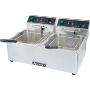 Adcraft DF-6L/2 - Countertop Fryer, Electric, Double Tank, 120V