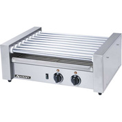 Adcraft RG-09 - Roller Grill, Stainless Steel, 9 Rollers, Holds 2 Hot Dogs, 120V