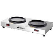 Adcraft WP-2 Dual Decanter Warmer Plate, Stainless Steel, 120V