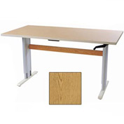 """Accella™ Height Adjustable Activity Table - 48""""L x 30""""W Oak"""