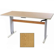 "Accella™ Height Adjustable Activity Table - 48""L x 36""W Oak"