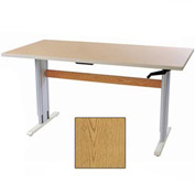 "Accella™ Height Adjustable Activity Table - 60""L x 24""W Oak"