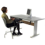"""Accella™ Height Adjustable Activity Table - 60""""L x 30""""W Gray"""