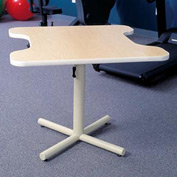 Gas Spring-Assist Height Adjustable Comfort Recess Therapy Table - Maple