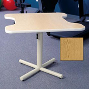 Gas Spring-Assist Height Adjustable Comfort Recess Therapy Table - Oak