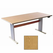 "Infinity™ Powered Height Adjustable Activity Table - 48""L x 36""W Oak"