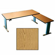 Infinity™ Powered Height Adjustable Left Return Desk - Oak