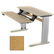 Infinity™ Powered Height Adjustable Bi-Level Workstation - Oak
