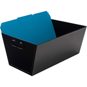 "Advantus® Steel File Bin Legal Size 63009 - 15-1/2""L x 11-1/4""W x 7-3/8""H, Black"