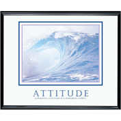 "Attitude (Wave), Framed, 30"" x 24"""