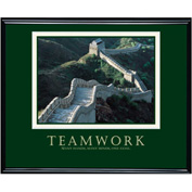 "Teamwork (Wall), Framed, 30"" x 24"""