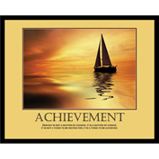 "Motivational Poster - Achievement - Framed - 30"" x 24"""