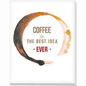 "Advantus® Canvas Motivational Print, 28""W x 22""H Breakroom Coffee, Best Idea"