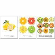 "Advantus® Canvas Motivational Print, 11""W x 14""H Breakroom Fruit, Set of 3"