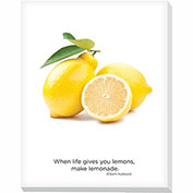 "Advantus® Canvas Motivational Print, 28""W x 22""H Breakroom Fruit, Lemons"