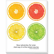 "Advantus® Canvas Motivational Print, 28""W x 22""H Breakroom Fruit, Citrus"