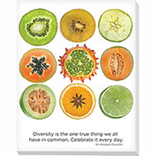 "Advantus® Canvas Motivational Print, 28""W x 22""H Breakroom Fruit, Diversity"