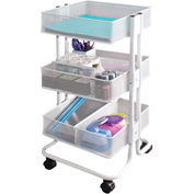 Advantus® Metal Craft Cart, White