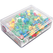 GEM Push Pins, Assorted Colors, 100/BX - Pkg Qty 10