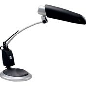 "Full Spectrum Desk Lamp, Black/Silver, 24""H - Pkg Qty 2"