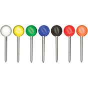 "GEM Medium Head Map Tacks, Asst'd  colors with ⅜"" shank, 100/BX - Pkg Qty 10"