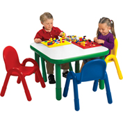 "Angeles Baseline 30"" Square Preschool Table & 4 Chair Set"