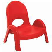 """Angeles Value Stack 5"""" Chair Candy Apple"""