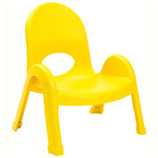 "Angeles Value Stack 7"" Chair Canary Yellow"